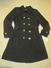 CALVIN KLEIN WOMENS XL~DOUBLE BREASTED TRENCH COAT~BLACK~WATER RESISTANT~$280