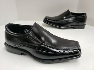 Kids Stacy Adams Danton Bicycle Toe Slip On Loafer Dress Shoes Black 43229 001