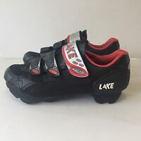 LAKE CX120 Black Red silver Racing Road Cycling Bike Shoes Size US 9 NWOB NEW