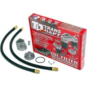 1120 Transdapt Oil Filter Relocation Kit New for Chevy Le Sabre 61 Special Tahoe