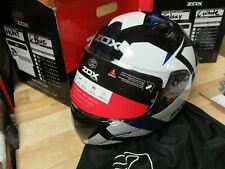 ZOX MOTORCYCLE MOTOCROSS ATV SNOWMOBILE SCOOTER HELMET - FULLFACE GALAXY LAR BLU