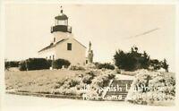 Old Spanish Lighthouse 1940s SAN DIEGO CALIFORNIA RPPC real photo postcard 3967