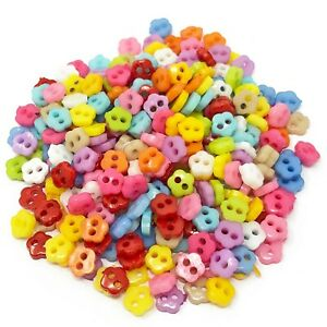 Mixed 300pcs 6mm Multicoloured Mix Resin Buttons For Cardmaking Embellishment