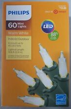 Philips LED Mini String Lights Warm White 60 ct Halloween Christmas