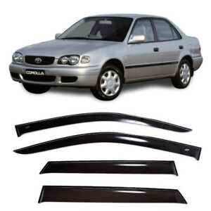 For Toyota Corolla Sd 1995-2002 Side Window Visors Rain Guard Vent Deflectors