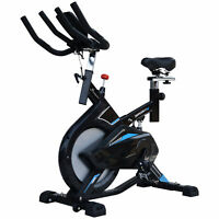 Soozier Stationary Exercise Bike Indoor Cycling Bicycle Cardio Workout Trainer