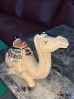 Artesania Rinconada Camel Sitting #64 Ceramic Clay Vintage Handcrafted Uruguay
