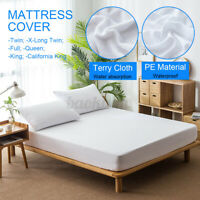 Waterproof Quilted Mattress Protector Cover Soft Terry Cloth Towels Multi-Size ☆