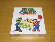 NEW USAOPOLY SUPER MARIO CHECKERS COLLECTORS EDITION 2 PLAYERS AGES 6+