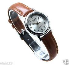 LTP-1095E-7B 100% Genuine Casio Leather Watch Water Resistant Date Women's