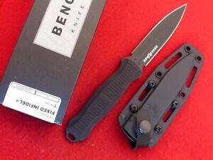 "Benchmade 133BK NIB Infidel Boot Knife Fixed Blade Black T6 Handle 9.21"" OAL"