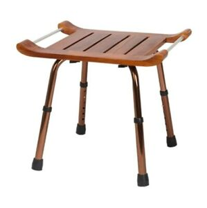 Indoor Outdoor Wood Stool With Aluminum Legs Stool Easy Clean Home Offices