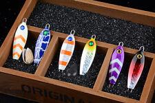 High Quality 6pcs Iron Bait Fishing Lures Metal Bait Lead Fish Tackle 7cm 35g