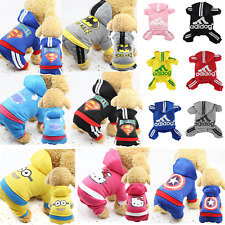 Classic Adidog Pet Dog Warm 4/Legs Hoodie Jumpsuit Puppy Coat Sweatshirt Clothes