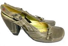 Tiggers Damen Pumps, Sandaletten, grau Leder, Gr 40