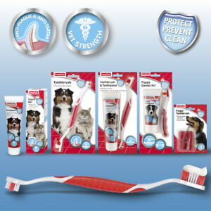 Dog Cat Pet Puppy Finger Brush Toothpaste Gel Dental Care Teeth Beaphar Oral Kit
