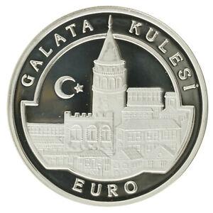 Turkey - Silver 3000 000 Lira Coin - 'Galata Tower' - 1998 - Proof