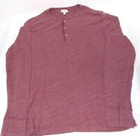 J. Crew Knit Goods Cotton Long Sleeve Red Henley Size XL