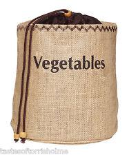 Kitchen Craft Natural Elements Hessian Vegetable Preserving Bag With Blackout Li