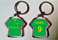 PAKISTAN CHAMPIONS TROPHY 2017 CRICKET SHIRT KEYRING - ANY NAME PERSONALISED