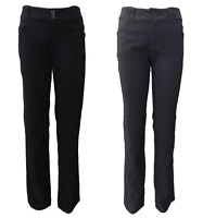AJOY BLACK & CHARCOAL GREY, STRAIGHT LEG, TAILORED DRESS PANTS.6, 8,10,12,14,16.