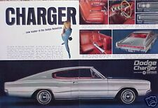 1966 Dodge Charger ORIGINAL Vintage Ad CMY STORE 4 MORE ADS TOO   5+= FREE SHIP
