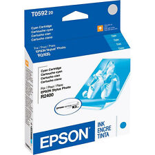 Genuine Epson T0592 cyan R2400 2400 printer ink 59 T059 592 T059220 C13T059220
