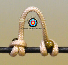 2 Pack Buckskin Archery Release Bow String Nock D Loop Bowstring Bcy #24