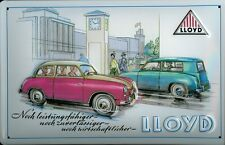 Lloyd Car Tin Sign Shield 3d Embossed Arched Metal Tin Sign 20 X 30 Cm