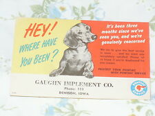 1949-1954 Pontiac Reminder Post Card - Hey!  Where Have You Been?  with Dachsund