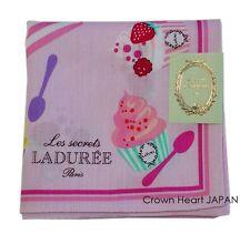 LADUREE Paris Handkerchief / Mini Neckscarf Ice Cream Parasol Vive la plage Pink