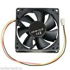 NEW 80MM 3 PIN 12V FAN COOLER FOR PC COMPUTER SYSTEM CASES AIR FLOW AND COOLING