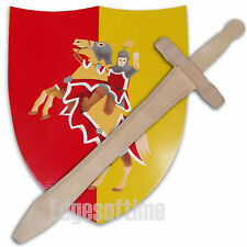 SCOTTISH THE BRUCE ROLE PLAY WOODEN SWORD & SHIELD