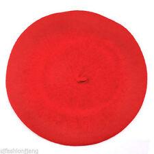Chapeaux béret rouge pour femme