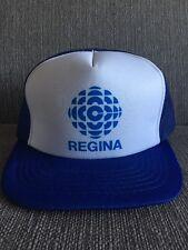Vtg CBC Radio Regina Mesh Trucker Style Snapback Hat 80's Canadian Broadcasting