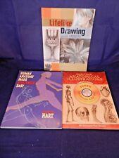 Lot of 3 Drawing,Anatomy;Lee Hammond-Lifelike Drawing,Human Anatomy,Anatom.Illus