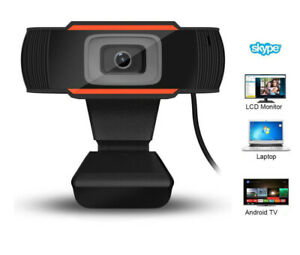 Webcam USB Microphone Plug & Play Easy Mount Camera Laptop PC Desktop