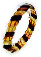 Damen Armband echter Bernstein aus der Ostsee Raute Qualität Armreif