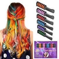 6 Colors DIY Hair Color Wax Dye Comb Cream Non-toxic Temporary Modeling for Xmas