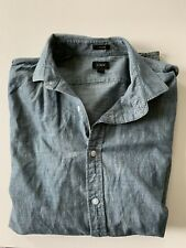 J Crew LUDLOW Slim Fit Shirt in Japanese Chambray LARGE MENS Button Down Cotton