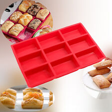 9 Cup Silicone Soap Mould Mini Cake Loaf Pan Food Grade Brownie Mold Homemade