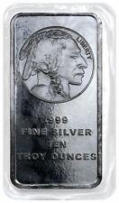 10 oz Silver Bar American Indian Buffalo Design SKU28953