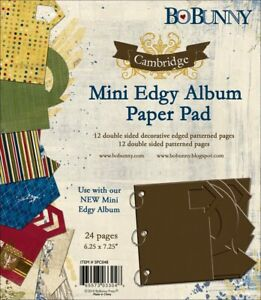 BO BUNNY CAMBRIDGE MINI EDGY ALBUM PAPER & DIE-CUT PAD 6x7-24 PAGES-665573033048