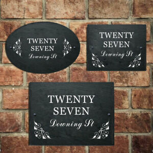 Personalised House Number Plaques Custom Door Sign With UV Printed For Home Gate
