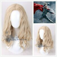 Thor Odinson Blonde Wave Cosplay Wig The Avengers Long Synthetic Hair Party Wigs