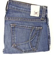 IT WOMEN'S Cropped Jean Medium Wash Stretch Size 28 & Size 24 EC
