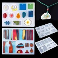83Stück handgefertigte Kristallkleber Silikonform DIY Schmuck Anhänger Halskette