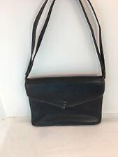Vintage Leather Shoulder Bag Star International Made in West Germany Faded Black
