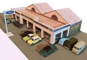 Kingsway, 00 scale, New Main Dealer Showroom, ready made