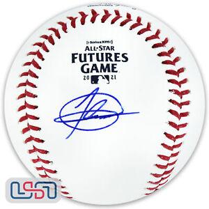 Jasson Dominguez Yankees Autographed Signed 2021 Futures Game Baseball MLB Auth